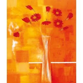 Canvas schilderij Rote Gerbera