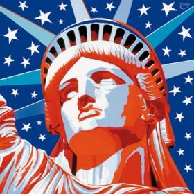 Canvas schilderij Statue of Liberty