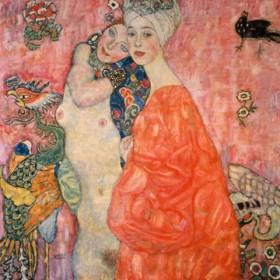 Canvas schilderij Die Freundinnen
