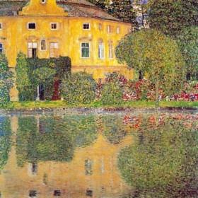 Canvas schilderij Schloss Kammer am Attersee