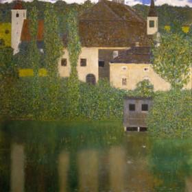Canvas schilderij Schlosskammer am Attersee