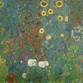 Canvas schilderij Bauerngarten mit Sonnenblumen