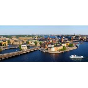 Canvas schilderij Blick auf Altstadtinsel Lübeck