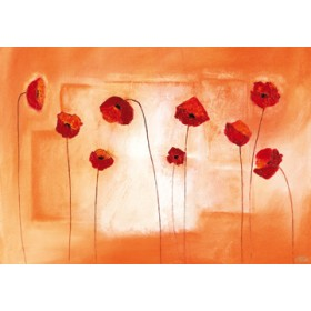 Canvas schilderij Poppy Meeting