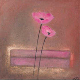 Canvas schilderij Poppy Pair