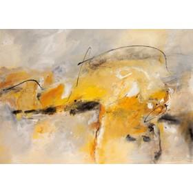 Canvas schilderij Giallo II