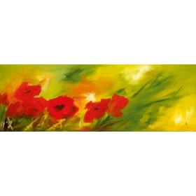 Canvas schilderij Mohnvariation