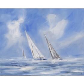 Canvas schilderij Auf dem Meer