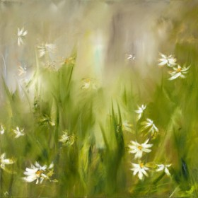 Canvas schilderij Kamillenblüte