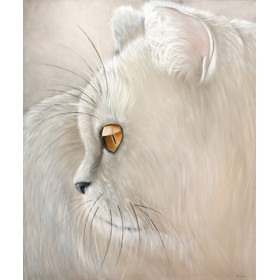 Canvas schilderij White Tiger