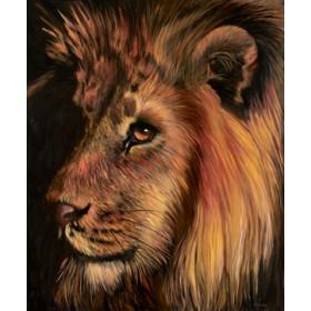 Canvas schilderij Löwe