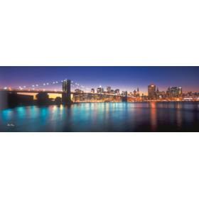 Canvas schilderij New York City by twilight