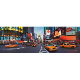 Canvas schilderij Time Square panorama