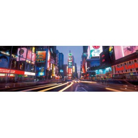 Canvas schilderij Time Square colors
