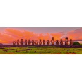 Canvas schilderij Easter Island Moais