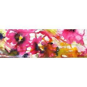 Canvas schilderij Pink Flowers 2