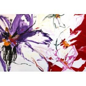 Canvas schilderij Fireworks of Flowers 2