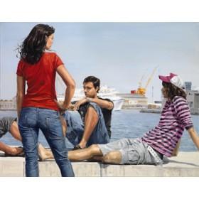 Canvas schilderij Beyond the Docks