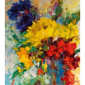 Canvas schilderij Blumenfreude I