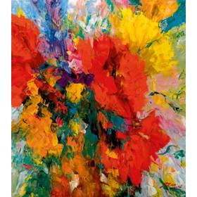 Canvas schilderij Blumenfreude II