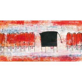 Canvas schilderij Schwarze Kuh