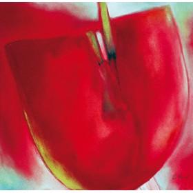 Canvas schilderij Red Bloom