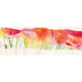 Canvas schilderij Poppy Ribbon Red
