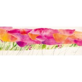 Canvas schilderij Poppy Ribbon Pink