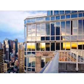 Canvas schilderij NYC Penthouse Reflections