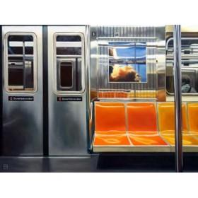 Canvas schilderij NYC Subway Reflections