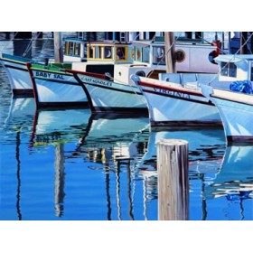 Canvas schilderij Fisherman`s Wharf Reflections