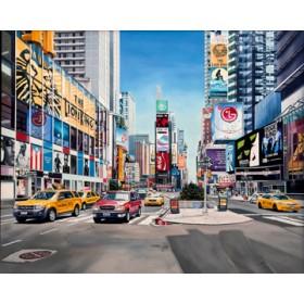 Canvas schilderij Times Square Reflections