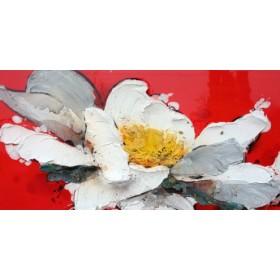 Canvas schilderij Peonia in rosso