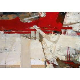 Canvas schilderij Zwei Gedanken auf dem Weg zum Tu