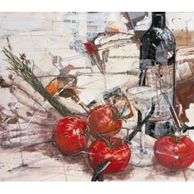 Canvas schilderij Und sieht die rote Frucht