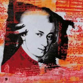 Canvas schilderij Mozart