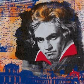 Canvas schilderij Beethoven I