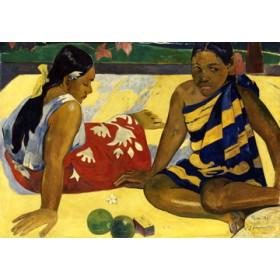 Canvas schilderij Zwei Frauen auf Tahiti