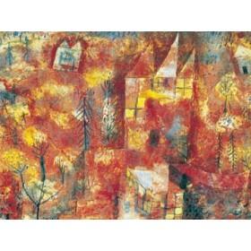Canvas schilderij Das Kind in der Landschaft