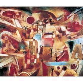 Canvas schilderij Felsenlandschaft