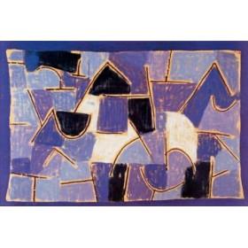 Canvas schilderij Blaue Nacht