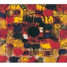 Canvas schilderij Komposition mit schwazem Punkt