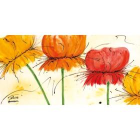 Canvas schilderij Blumen Fantasie I