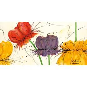 Canvas schilderij Blumen Fantasie II