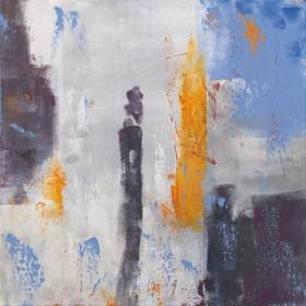 Canvas schilderij Kerzenmenschen 3