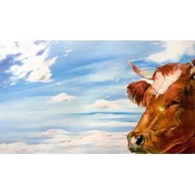 Canvas schilderij Himmelskuh