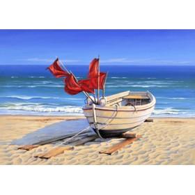 Canvas schilderij Small fishing boat
