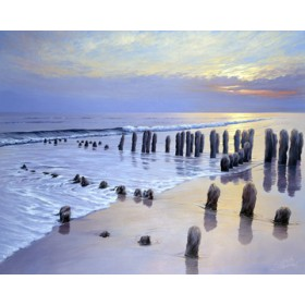 Canvas schilderij Sunset at Ostsee Coast I