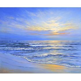 Canvas schilderij Sunset at Ostsee coast II