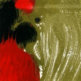 Canvas schilderij Rosso Nero II